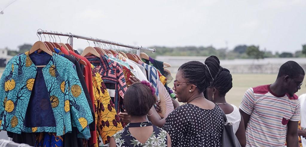 the Accra goods market